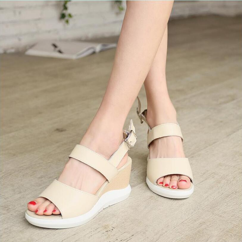 D&Henlu 2017 Summer shoes women Fretwork Carving Swing Wedges Platform Women Sandals Female gladiator sandals women Shoes woman phyanic 2017 gladiator sandals gold silver shoes woman summer platform wedges glitters creepers casual women shoes phy3323
