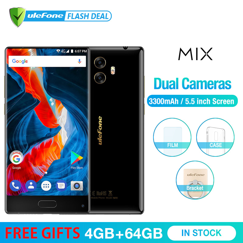 Ulefone MIX 13MP Dual Camera Mobile Phone 5.5 inch MTK6750T Octa Core Android 7.0 4GB+64GB Fingerprint 4G Smartphone|Cellphones|   - AliExpress