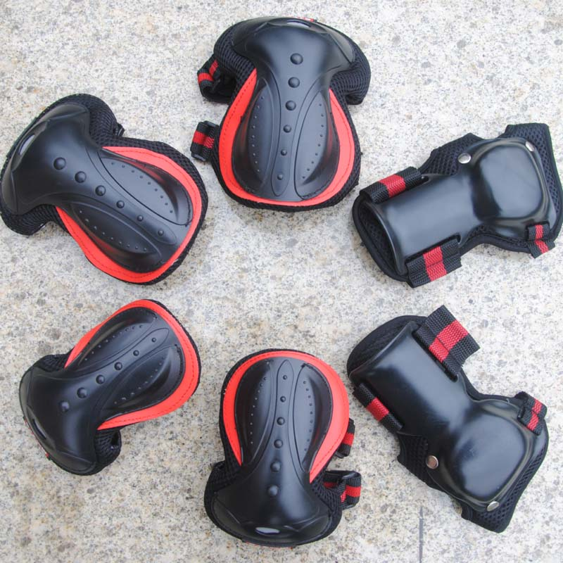 1pair Roller Skates Protector Set Adult Kids KneePads Protection Sports Safety Guard Skateboarding Skateboard Parts