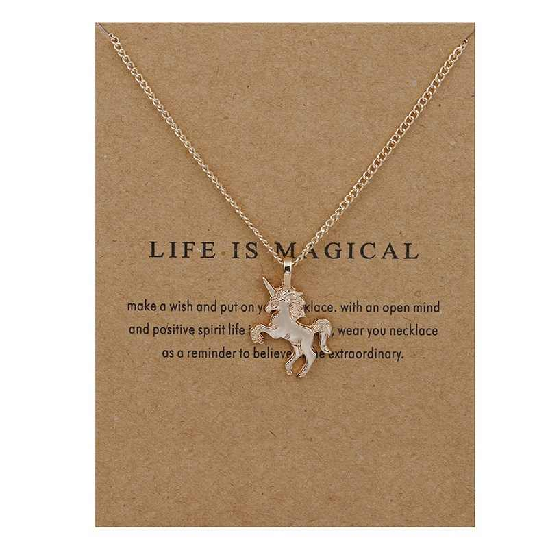 Big Middle Little Sisters Friendship Jewelry Unicorn Necklaces for Women Unicorn Pendant Statement Chokers Necklace for Girls
