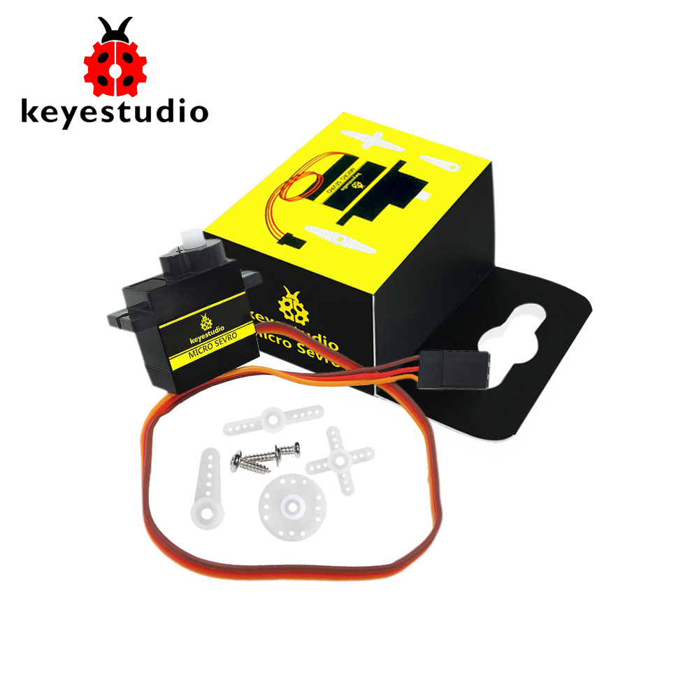Free Shipping !Keyestudio Micro Servo SG90S 9g  180 Degree For Arduino Smart Car Robot /