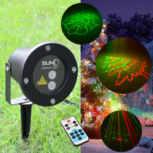 Outdoor Laser light christmas lights RG laser projector showers with remote controller Xmas