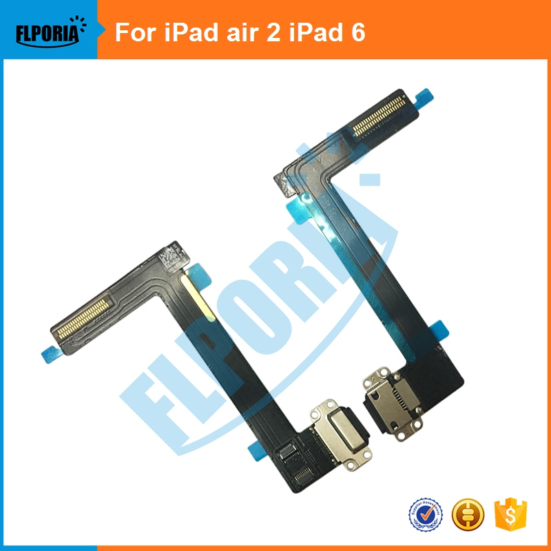 1PCS New Original For iPad 6 iPad Air 2 Charger Flex USB Port Dock Connector Charging Flex Cable Replacement Parts