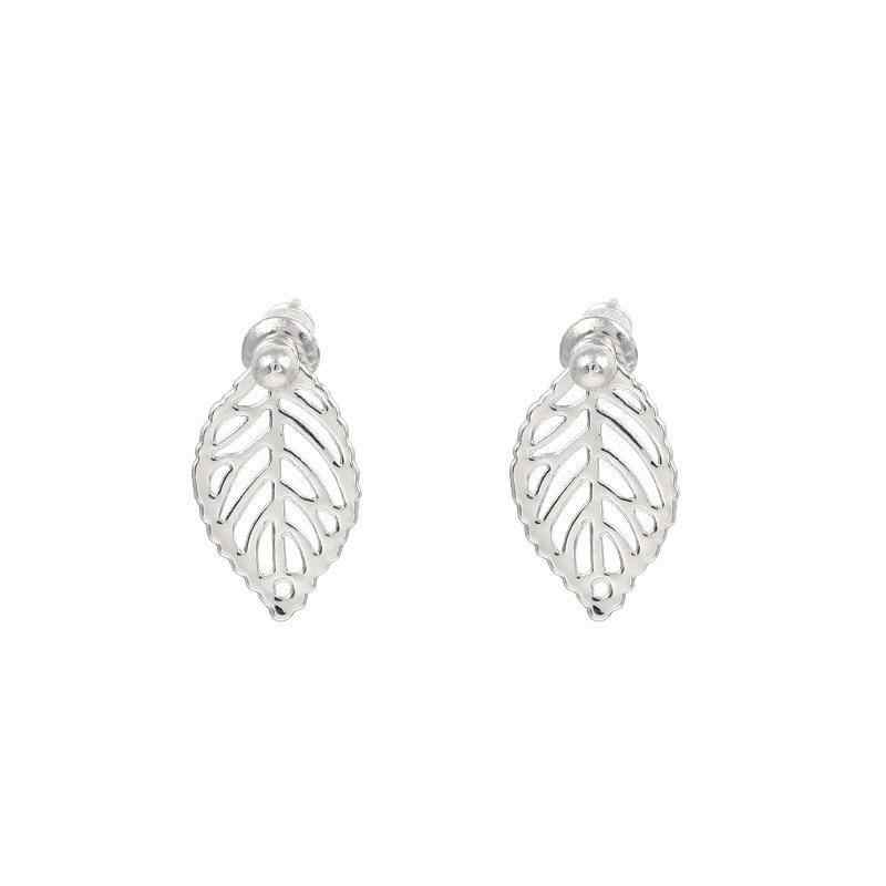 Korean Earrings Fashion Jewelry Temperament Simple Retro Earrings Gold Leaves Small Leaves Earrings For Women Brincos Oorbellen