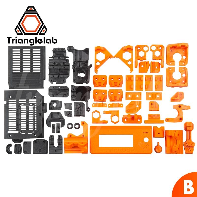 Peças para DIY Prusa i3 TriangleLAB PETG material impresso completo MK3S atualização urso 3D NÃO impressora PLA material