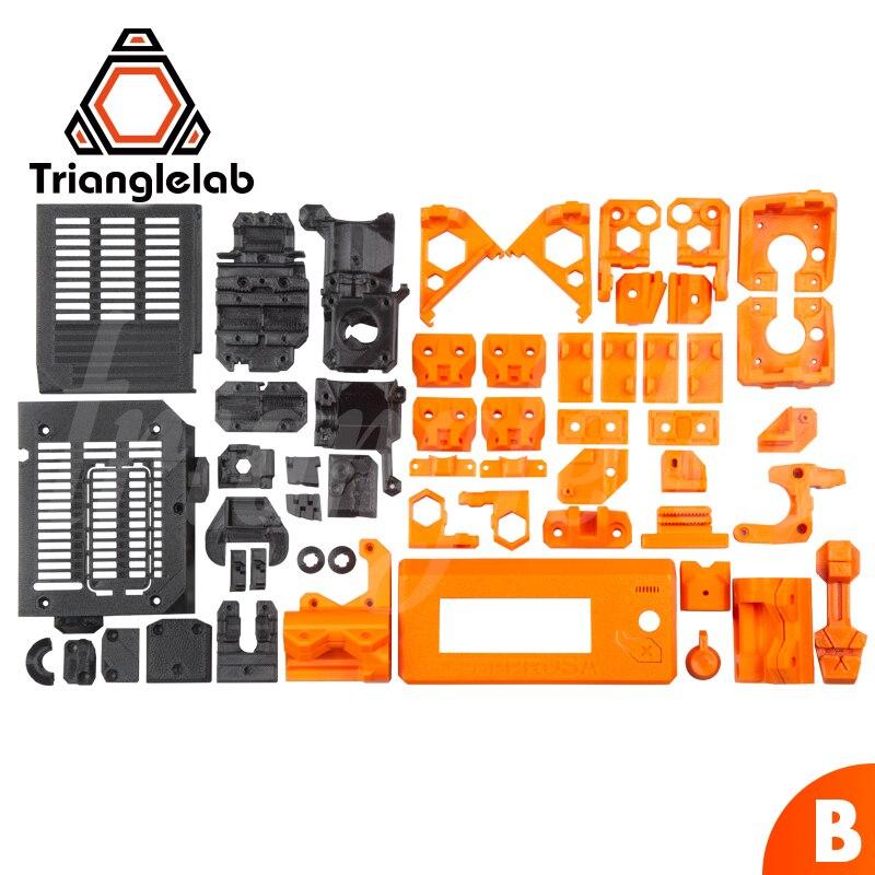 TriangleLAB material PETG estampada por completo de piezas para DIY Prusa i3 MK3S oso actualización 3D impresora no material PLA