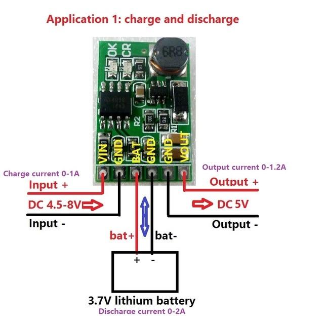 6W 5V UPS mobile power Diy Board Charger & Step-up DC DC Converter Module for 3.7V 18650 lithium battery