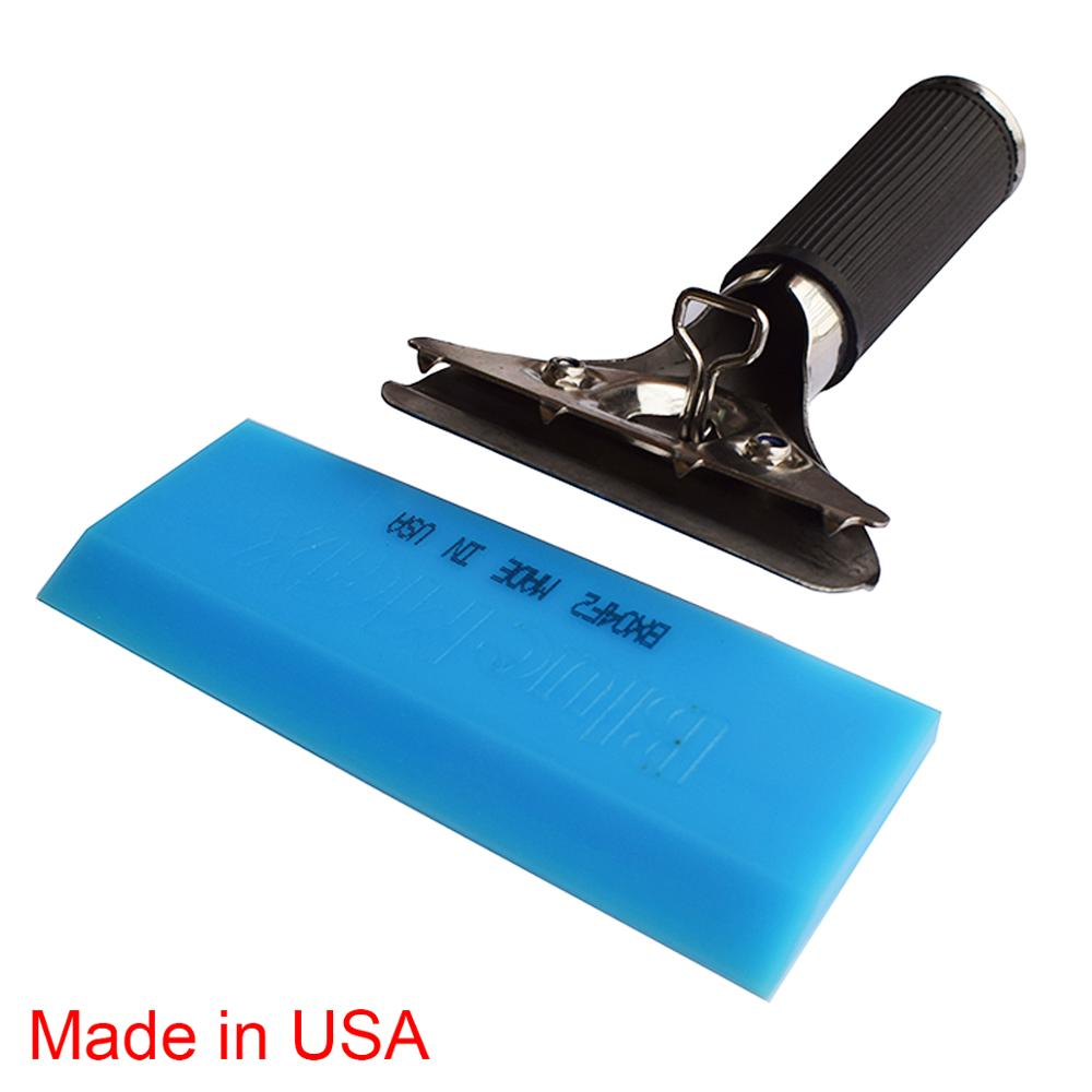 Anti-slip Handle Bluemax Rubber Squeegee Car Wrap Water Wiper Ice Scraper Household Cleaning Tools Snow Shovel made in USA B13B image