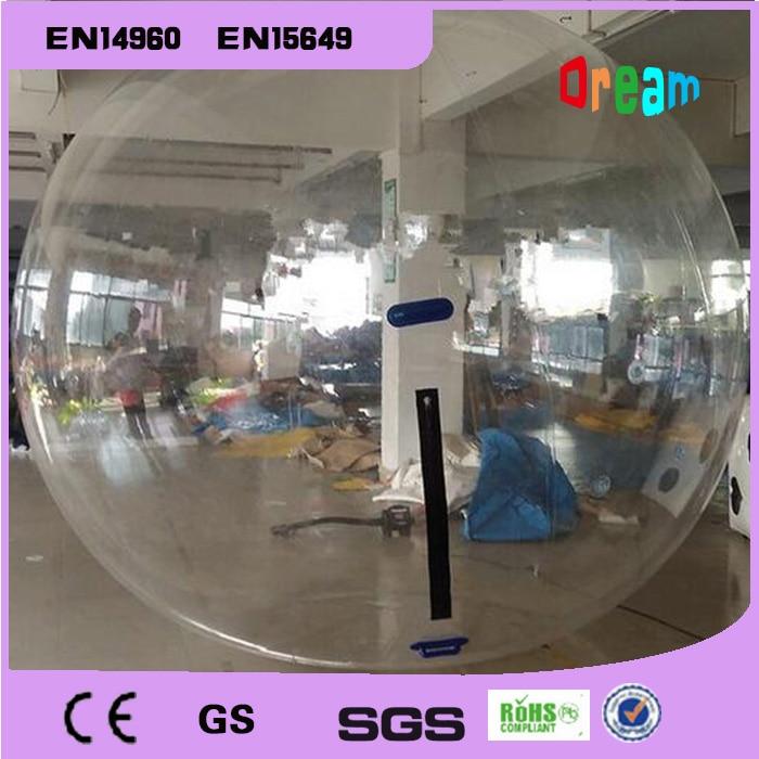 Livraison gratuite 2 m pas cher Transparent gonflable marche eau balle piscine humaine Hamster eau marche balle