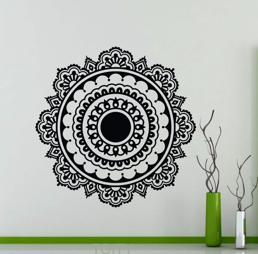 Mandala vinyl decal mehndi ornament yoga namaste lotus flower wall mandala vinyl decal mehndi ornament yoga namaste lotus flower wall sticker gym office home interior decoration art mural mightylinksfo