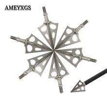 アーチェリー3ブレード矢印ターゲットステンレス鋼点diy矢印ツールキャンプ狩猟弓と矢撮影アクセサリー