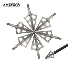 Archery Three Blade Arrowheads Target Stainless Steel Points DIY Arrows Tool Camping Hunting Bow And Arrow Shooting Accessories