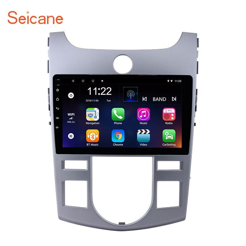 Seicane 9 дюймов четырехъядерный Android 7,1/8,1 автомобильный Радио стерео плеер gps Navi для 2012 2009 2008 KIA Forte (AT) с HD 1024*600
