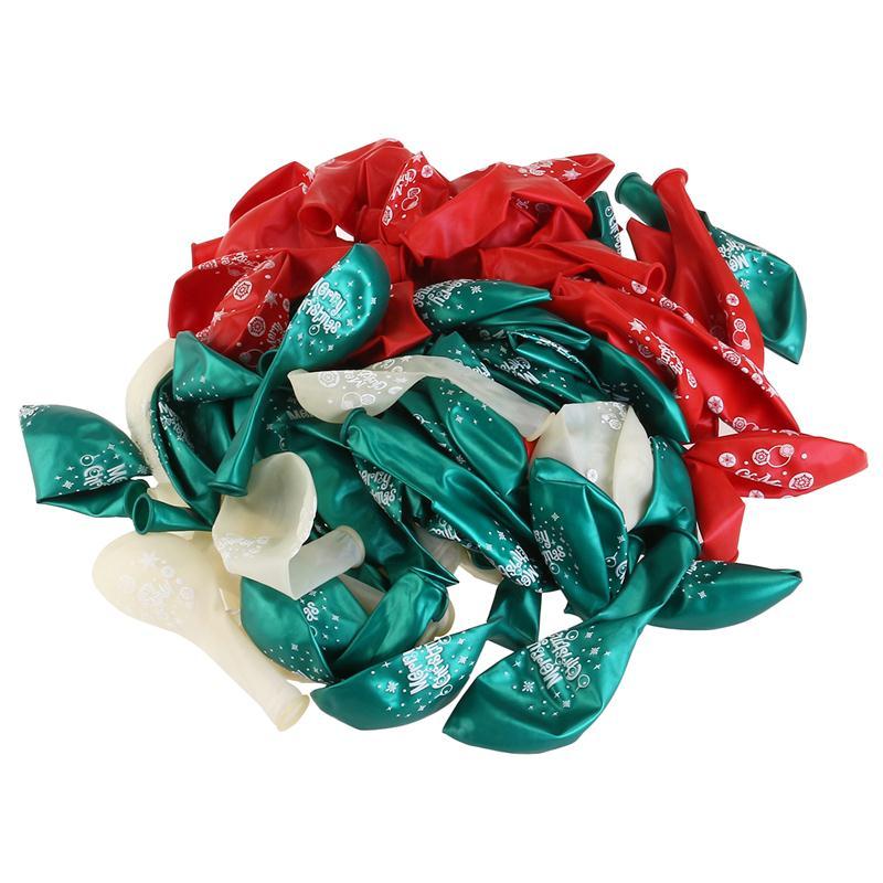 100 stücke Frohe Weihnachten Ballons Bunte Latex Ballons Kinder ...