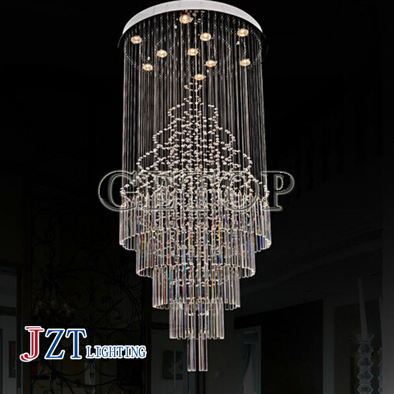 J best price stair lamp K9 crystal ceiling lamp Super spiral staircase Led droplight Crystal ceiling light mordern lighting best price rectangular crystal chandeliers k9 crystal ceiling lamp lighting fixtures restaurant led lighting e14 free shipping