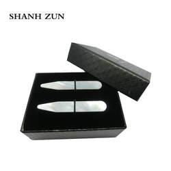 """SHANH Зун классического Высокая польский натуральный Shell воротник остается для Для мужчин платье рубашка 2,37"""""""