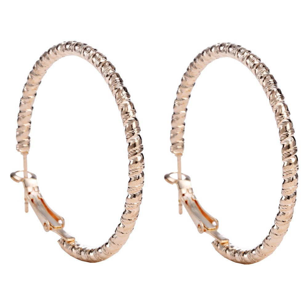New Fashion Gold Color Big Hoop Earrings For Women Wedding Bridal Earring  Jewelry Basketball Wives Hoop