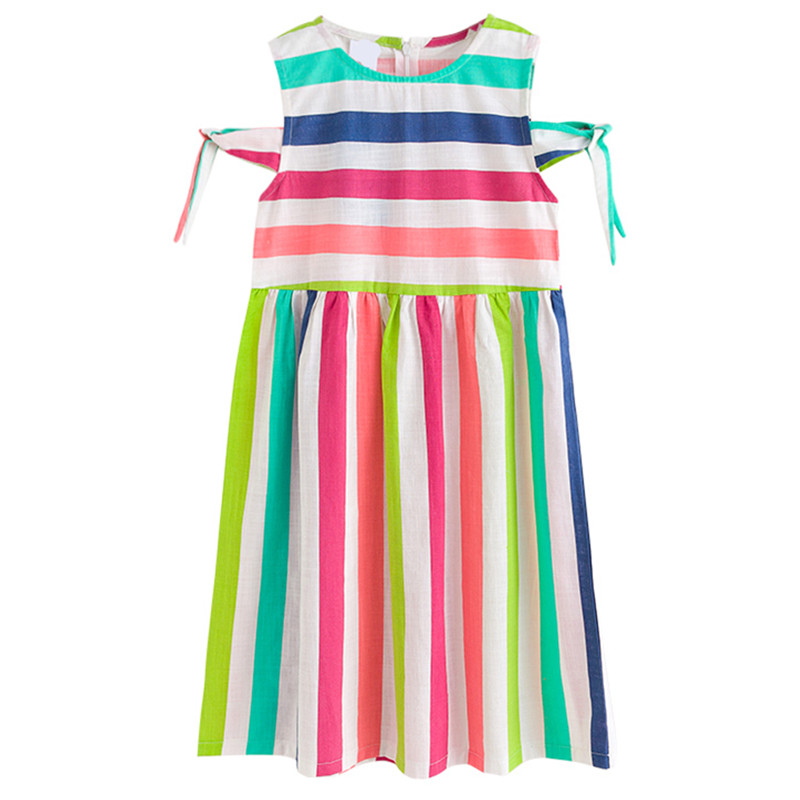 kids & teenager girls summer rainbow striped cut-out shoulder casual dress children 4 to 16 years mide dresses clothingkids & teenager girls summer rainbow striped cut-out shoulder casual dress children 4 to 16 years mide dresses clothing