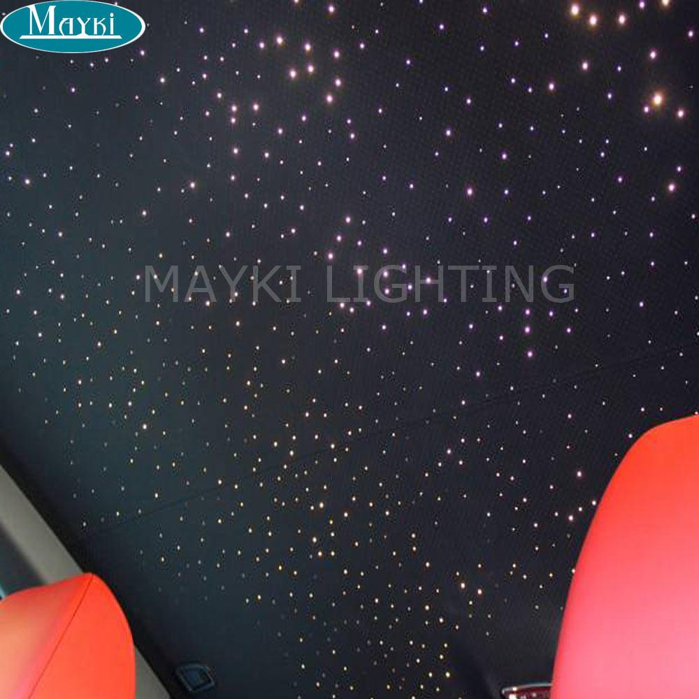Maykit CREE чип 6 Вт RGB LED Волокно оптическое Двигатели для автомобиля с контроллером 12 В трансформатор для автомобилей освещенности и звезда деко...