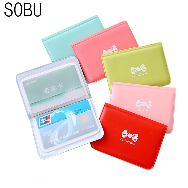 New Cute 12 Bits Card ID Holders Case PU Function Business Card Holder Women Credit Passport Card Bag Passport Card Wallet H080