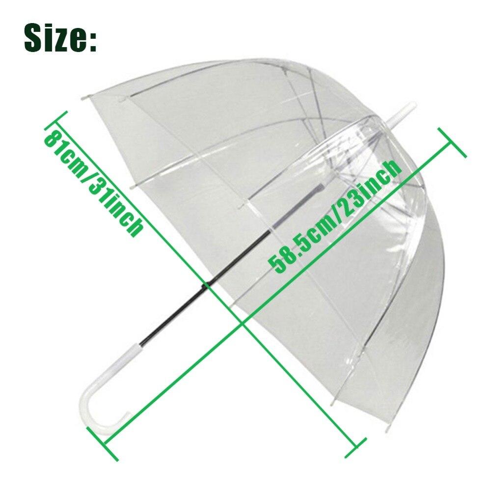 Cogumelo Em Forma de arco Guarda-chuva Transparente Decoração Capina ... cfb21fa969