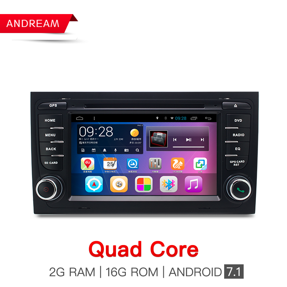 Two Din 7 Inch Android 7 1 1 Car DVD Player For Audi A4 S4 2002