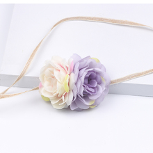 Bohemia Children Lovely Baby headband Bunny Flower Crown Hair Band Girls flower Headwear party Kids Accessories