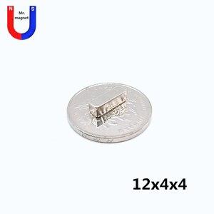 500 шт. 12 мм x 4 мм x 4 мм 12x4x4 сильный кубовидный квадратный магнит холодильника 12*4*4 редкоземельный соединение NeodymiumArt Craft