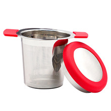 Stainless Steel Mesh Tea Infuser Reusable Tea Strainer Teapot Loose Tea Leaf Spice Filter With Lid tea bag food grade leaf herbal spice filter 1 pcs unicorn shape tea infuser strainers creative filter loose silicone чай