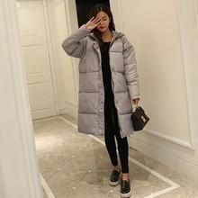 Хлопок женщин в длинный участок студентов большой ярдов Корейской хлеб пальто 2016 колени толстые зимнее пальто фабрики сразу