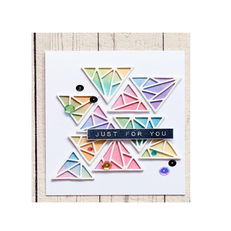 Triangle Background Set Metal Cutting Dies Stencil for DIY Scrapbooking Photo Album Paper Card Decorative Craft Diecuts New 2018 ...