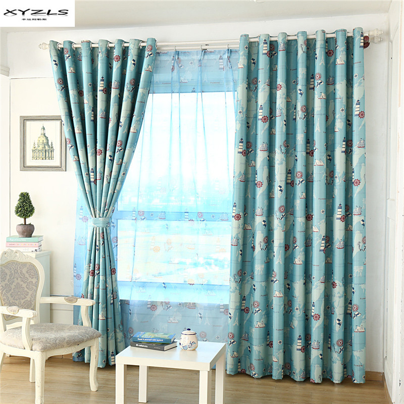 Xyzls mediterranean style blackout curtain cortinas - Childrens bedroom blackout curtains ...