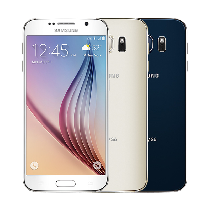 Image 2 - Unlocked Original Samsung Galaxy S6 G920F/V/A phone Octa Core 3GB RAM 32GB ROM LTE WCDMA 16MP 5.1 inch Wi fi Android Smartphone-in Cellphones from Cellphones & Telecommunications
