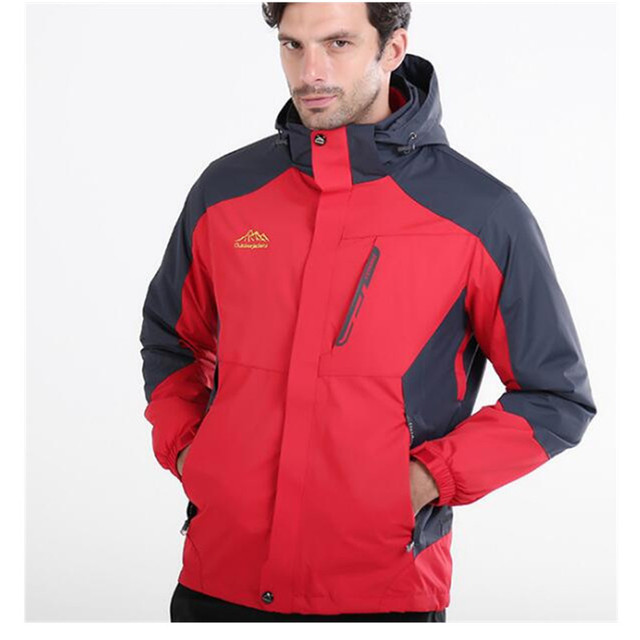 40a9e9904 US $63.04 20% OFF|Winter Warm 3 in 1 Men Women Top Outdoor Jacket Brands  ,Plus Size Waterproof Windproof Hiking Jackets for Camping Rain Hoodies-in  ...