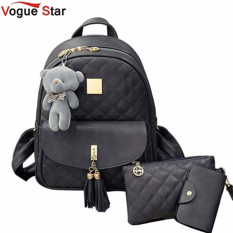 7d2a1de67e97 Медведь Рюкзак Для женщин мешок решетки алмаза школьные сумки для девочек