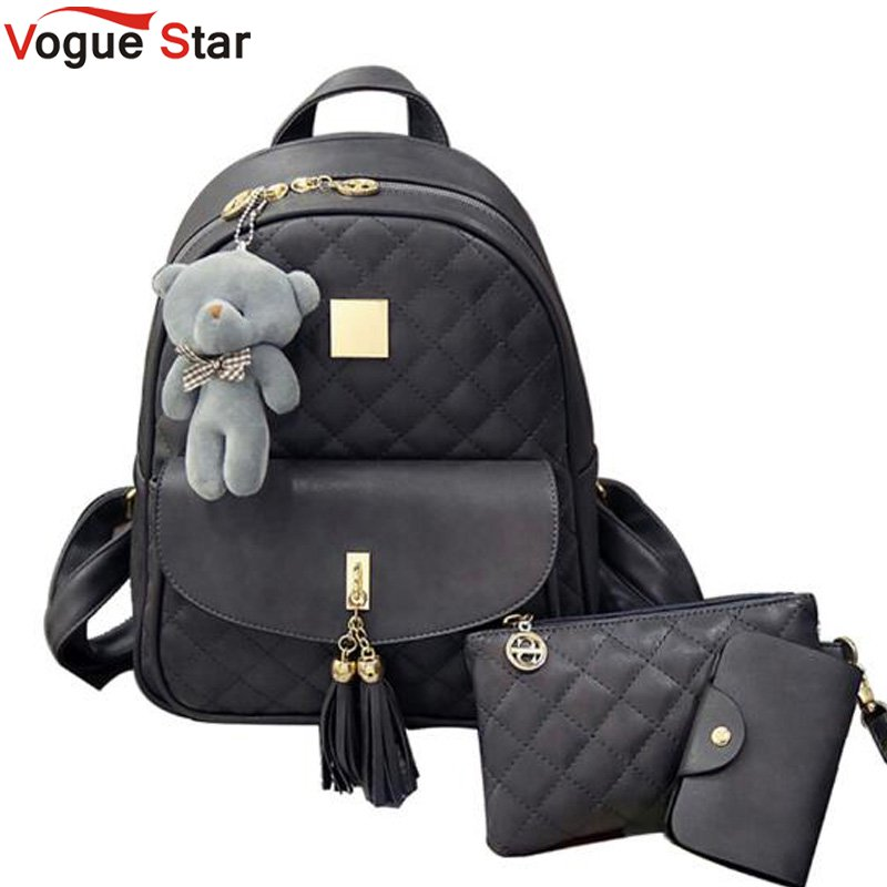 Tftp-school Bag For Girl Vintage Corduroy Solid Color Travel Backpacks Striped Pompon Cute Shoulder Bag Luggage & Bags