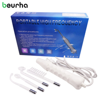 Beurha Portable High Frequency Darsonval Spot Acne Remover Blackhead Remover Pore Cleaner Face Massager Hair Body