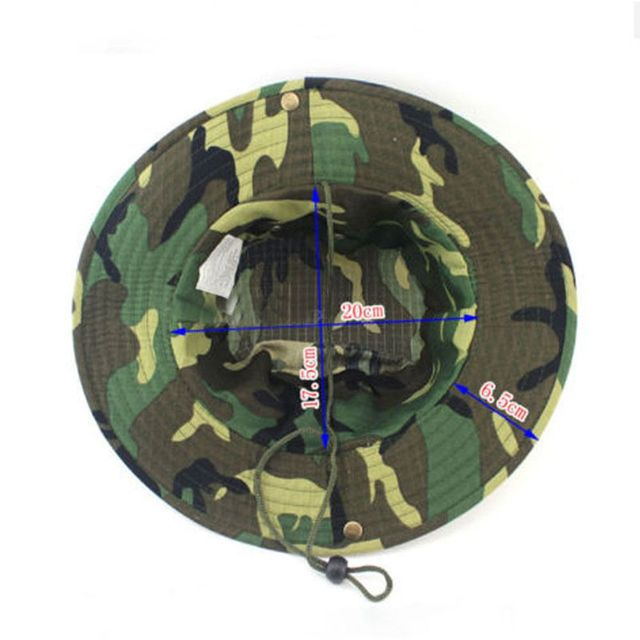 c18295ff8b5 1PC New Unisex One Size Colorful Bucket Hat Boonie Hunting Fishing Outdoor  Cap Wide Brim Military