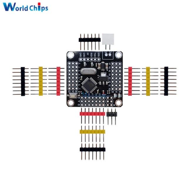 New Pro Mini Atmega328 5V 16MHz Board Module For Arduino Mini 328 ATMEGA328P Micro Controller Replace ATMEGA128 With 14Pins