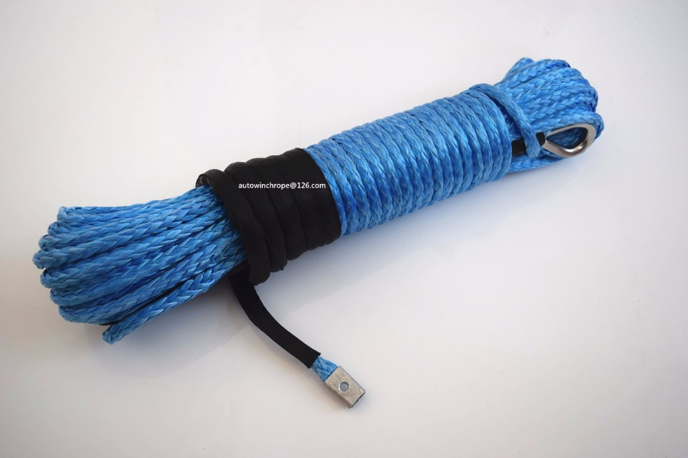 Blue 5/16*100ft Synthetic Winch Rope Cable,Replacement Synthetic Rope for Winch,Off Road Rope,Tow Rope blue 5 16 100feet 4x4 suv synthetic winch rope atv winch accessaries replacement winch cable plasma rope
