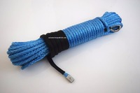 Blue 5 16 100ft Synthetic Winch Rope Cable Replacement Synthetic Rope For Winch Off Road Rope