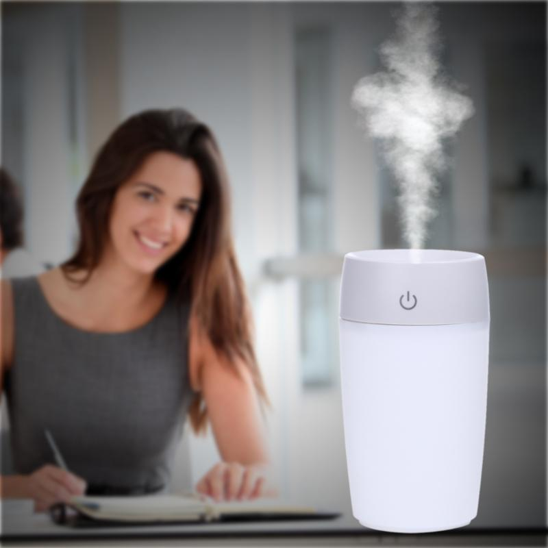 200ml Cup humidifier mini home quiet horizontal mini Ultrasonic air purifier air conditionin Atomizer Mist Maker Auto Power-off home tabletop ultrasonic humidifier 5l touch type timing mist maker mute air purifier auto power off protection 300ml h