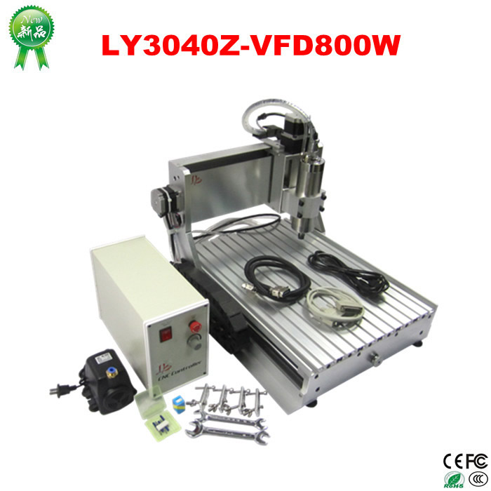 MINI cnc machine 3040 Z-VFD 800W engraver router for wood/PCB/metal, no tax to Russia country free tax to eu high quality cnc router frame 3020t with trapezoidal screw for cnc engraver machine