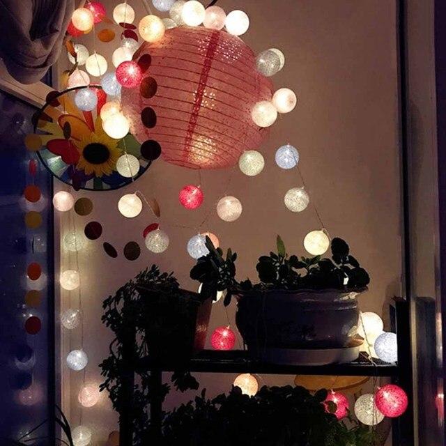 3M 20 Lights LED Cotton Ball String Light Thai Style Fairy