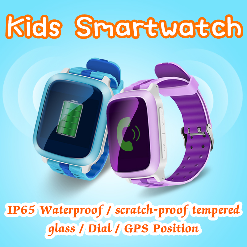 VOGROUND Children Security Anti Lost GPS Call font b Smart b font Watch DS18 Waterproof Kids