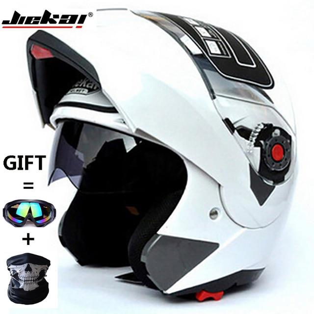 ea9f1342 JIEKAI105 Motorcycle helmets Dual Visor Modular Flip Up Helmet Racing  Motocross Helmets DOT ECE Sticker M-XXL Motorcycle Helmet