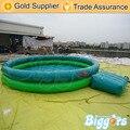 Inflatable biggors equipamentos parque aquático inflável piscina com passo para venda