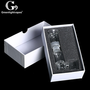 Image 4 - Greenlightvapes G9 Mouthpiece Glass Water Filter Pipe Bubbler Adapter Attachment for 510 Nail / Henail Plus / TC Port