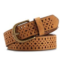 2017  belt women pattern hollow buckle thin skin wide belt cummerbund women's strap dress belt brown waistband luxury