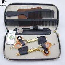 Smith Chu 5.5 inch Professional Hair dressing scissors set Cutting+Thinning Barber shears 2 pcs set+case+comb*2